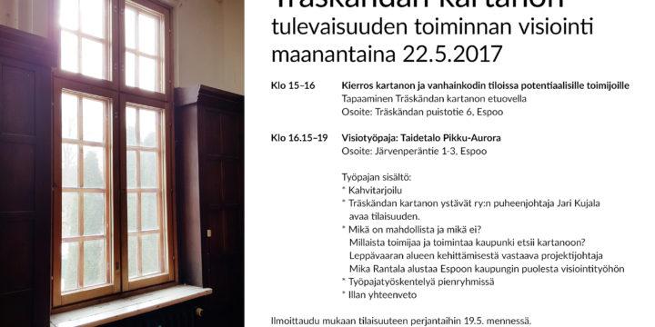 22.5. Träskändan kartanon visiointityöpaja!