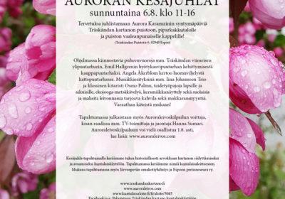 6.8. Auroran kesäjuhlat lähestyvät!