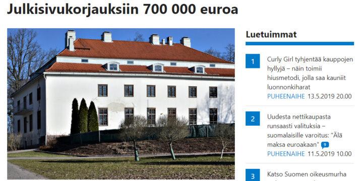 Länsiväylä: Rapistuvassa Träskändassa alkaa vihdoin tapahtua: Julkisivukorjauksiin 700 000 euroa / 14.5.2019
