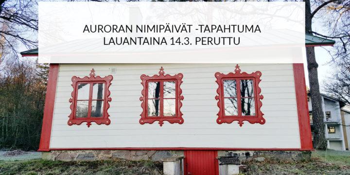 Auroran nimipäivät Träskändassa peruttu koronavirusuhkan takia